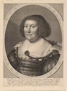 Willem Jacobsz Delff after Michiel van Miereveld, 'Catherine, Countess of Pallandt', in or after 1636