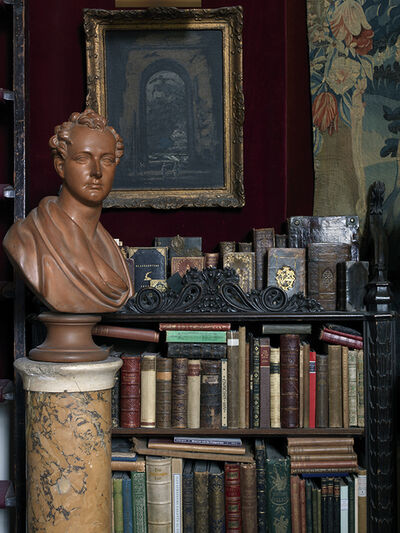 Simon Brown, 'Stephen Calloway's London House 2, Books With Bust', 2014