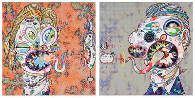 Takashi Murakami, 'Homage to Francis Bacon Study for Head of Isabel Rawsthorne and George Dyer (Set)', 2016