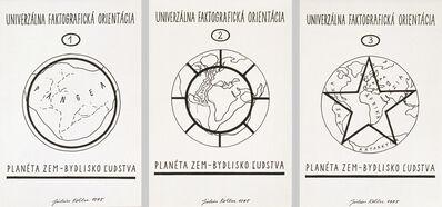 Július Koller, 'Univerzálna Faktografická Orientácia 1-3', 1975