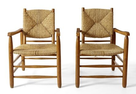 Charlotte Perriand, 'Pair of Chairs', ca. 1948
