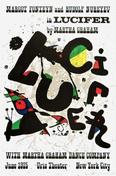Joan Miró, 'Lucifer, 1975 Martha Graham Dance Company Exhibition Poster', 1975