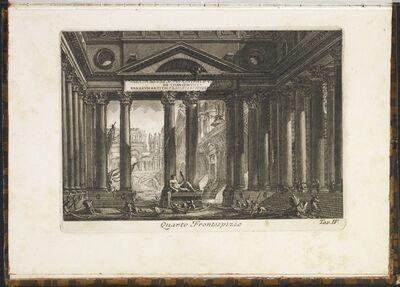 Giovanni Battista Piranesi, 'Quarto frontespizio', 1757