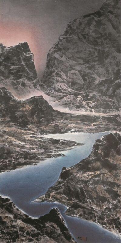 Liu Kuo-sung 刘国松, 'Ever-surging Dawn Light across the Straits 兩岸晨光涌不絕', 2007