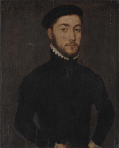 Corneille de la Haye, called Corneille de Lyon, 'Portrait of a gentleman, aged 23, half-length', 1557