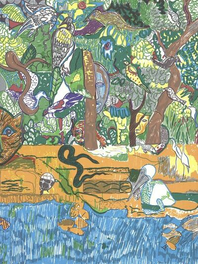 Romare Bearden, 'Dreams of Exile (Great Snake)', 1981