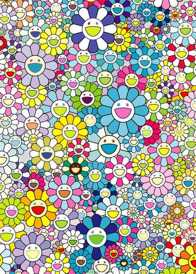 Takashi Murakami, 'Champagne Supernova: blue', 2013