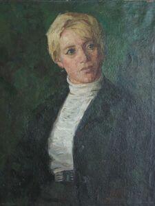 Aleksey Dmitrievich Potapov, 'Smorodinova´s portrait', 1976