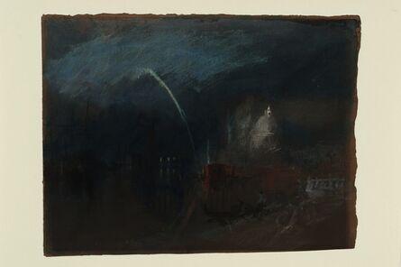 J. M. W. Turner, 'Venice: Santa Maria della Salute, Night Scene with Rockets', About 1840