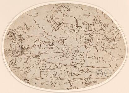 Hans Jakob Nüscheler, 'Elisha Watching Elijah in the Fiery Chariot', ca. 1600