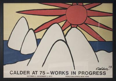 Alexander Calder, 'Works in Progress', 1973