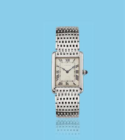 Cartier, 'White gold Tank wristwatch', ca. 1950