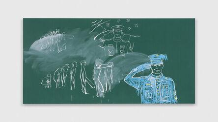 Tala Madani, 'Blackboard (Vertical Gestures)', 2021