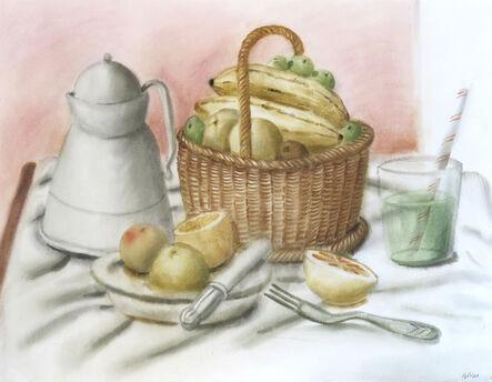 Fernando Botero, 'Still-life with fruit', 1990