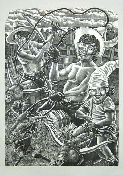 Tom Huck, 'Goat Roper Rodeo', 2003