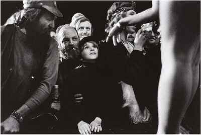 Susan Meiselas, 'Young Gawker, Essex Junction, Vermont, From 'Carnival Strippers'', 1974