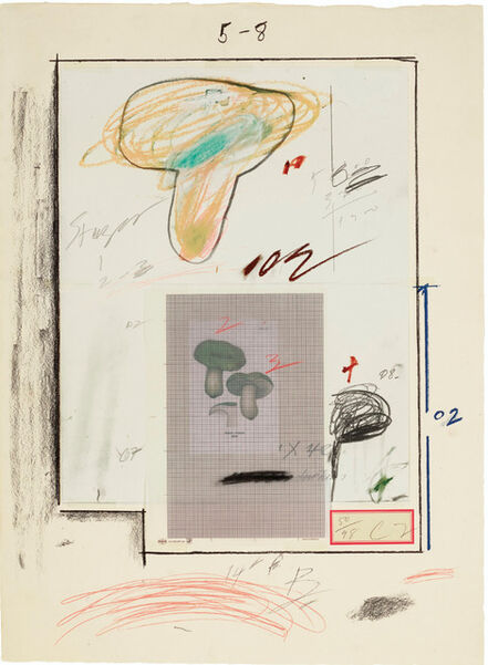 Cy Twombly, 'No. III, from Natural History Part I: Mushrooms ', 1974