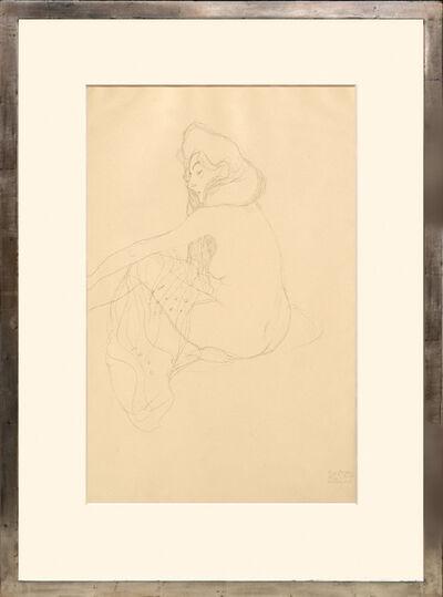 """Gustav Klimt, 'Studie zur """"Danae"""" (Erster Entwurf). Study on the """"Danae"""" (First draft).', 1919"""
