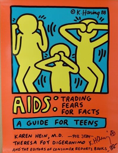 Keith Haring, 'AIDS:Trading Fears for Facts, A Guide for Teens', 1988