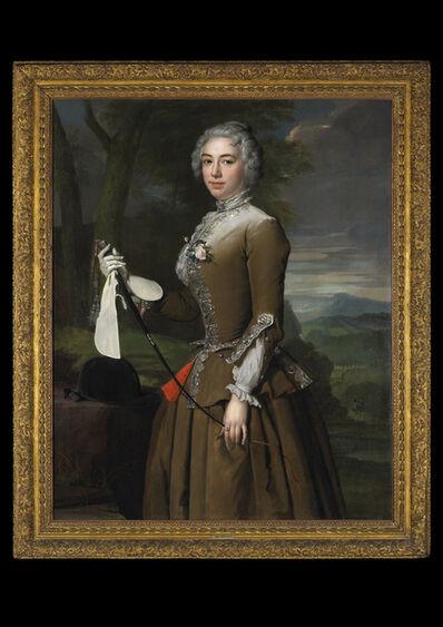 Herman van der Myn, 'Portrait of a Lady in Riding Dress, Three-quarter Length, in a Landscape   ', 1733