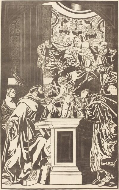 John Baptist Jackson after Veronese, 'Holy Family and Four Saints', 1739
