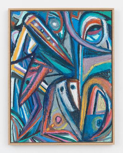 Johannes VanDerBeek, 'Face and Leaves'