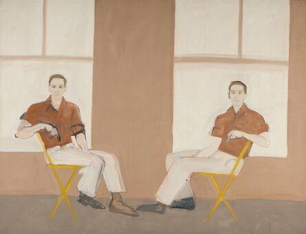 Alex Katz, 'Double Portrait of Robert Rauschenberg', 1959