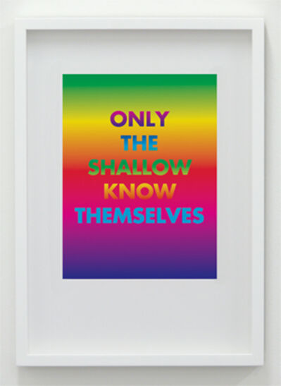 David McDiarmid, 'Only The Shallow Know Themselves', 1994 / 2012