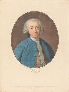 Pierre-Michel Alix after Jean-François Garnerey after Louis Michel Van Loo, 'Helvetius'