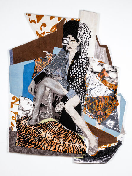 Mickalene Thomas, 'Racquel Come To Me', 2019