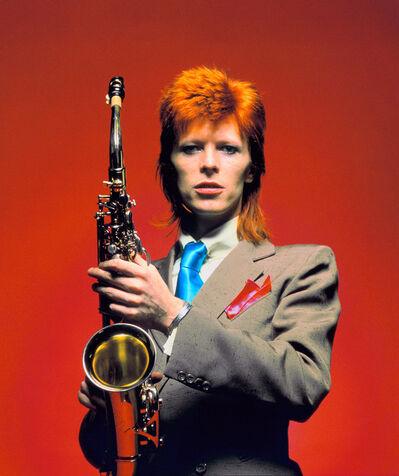 Mick Rock, 'Bowie Sax CU Color', 1973