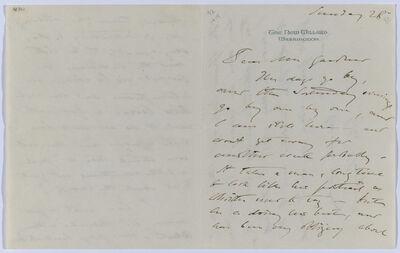 John Singer Sargent, 'Letter to Isabella Stewart Gardner from The New Willard, Washington DC', October 28-1917