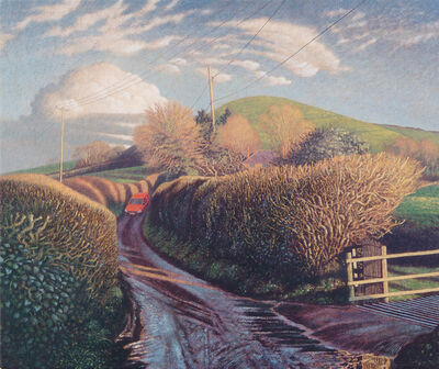 James Lynch (b. 1956), 'Messages in the Landscape, The Post Van, Parrock Hill'