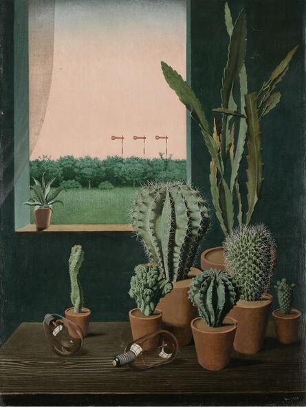 Georg Scholz, 'Cacti and Semaphore (Kakteen und Semaphore)', 1923