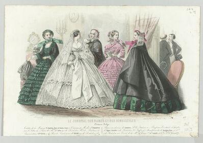 'Octobre 1859, No. 577: Edition Belge. Toilettes de la Maison R. Lhopiteau (October 1859, No. 577: Belgian Edition. Wardrobes of the House R. Lhopiteau)', 1859