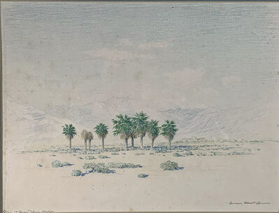 George Elbert Burr, 'OASIS OF SEVEN PALMS CALIFORNIA', ca. 1920
