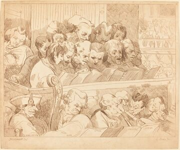 Lydia Bates, 'A Choir Singing', 1784