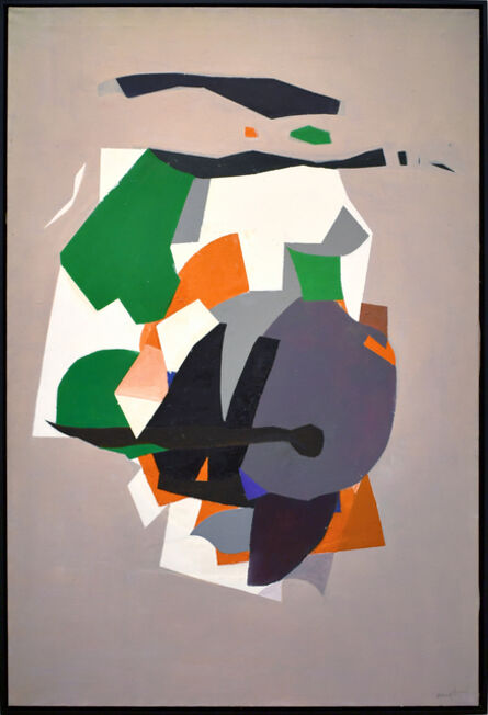 Beatrice Mandelman, 'Grey Abstract Composition ', ca. 1960s
