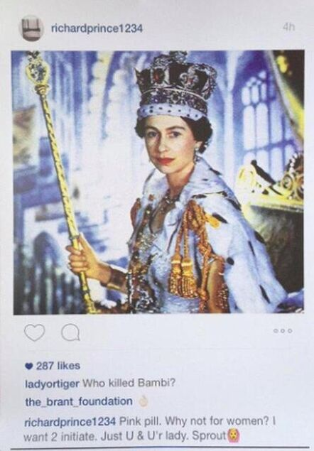 Richard Prince, 'Instagram New Portraits - Queen Elizabeth II', 2015