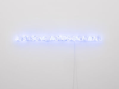 John Wood and Paul Harrison, 'Just some words on a wall', 2020