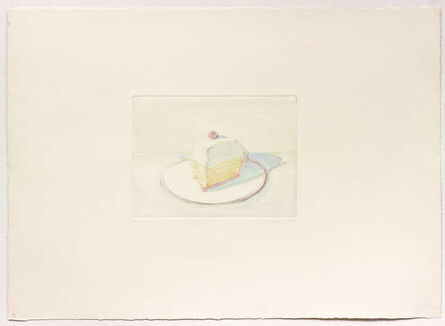 Wayne Thiebaud, 'Untitled (Pie Slice)', 1977