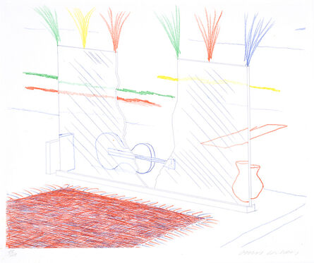 David Hockney, 'On It May Stay His Eye, from The Blue Guitar', 1976-1977