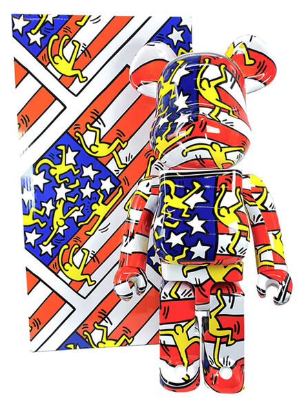 Keith Haring, 'Keith Haring Bearbrick 1000% American flag (Haring DesignerCon BE@RBRICK)', 2020