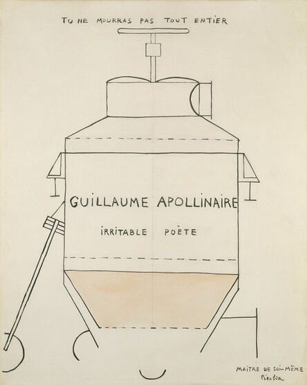 Francis Picabia, 'Guillaume Apollinaire', vers 1918