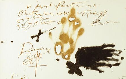 Antoni Tàpies, 'Llull (1058)', 1985