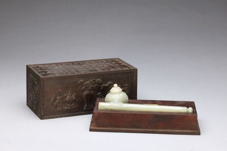'Inkwell and Pen-case with Acanthus Leaves', 17the century