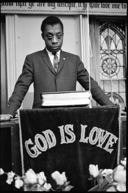 Steve Schapiro, 'James Baldwin, God Is Love, Harlem', 1963