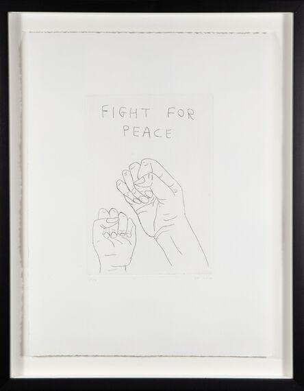 David Shrigley, 'Fight for Peace', 2014