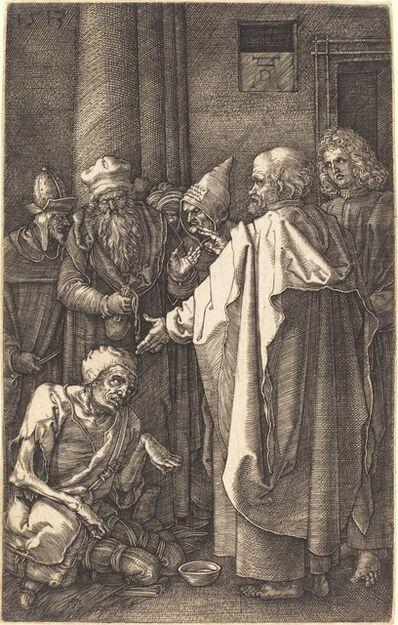 Albrecht Dürer, 'Saint Peter and Saint John Healing a Cripple at the Gate of the Temple', 1513