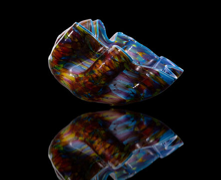 Dale Chihuly, 'Dale Chihuly Signed Cerulean Macchia Handblown Contemporary Glass Sculpture', 2010